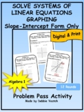 Solve Systems of Linear Equations-Graphing in Slope-Intercept Form Problem Pass