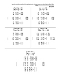 Solve Systems of Linear Equations Using Matrix Equations