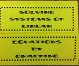 Solve Systems of Linear Equations by Graphing Foldable