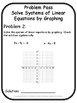 Solve Systems of Linear Equations by Graphing Problem Pass Activity