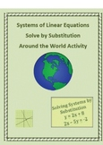 Solve Systems of Linear Equations by Substitution Activity