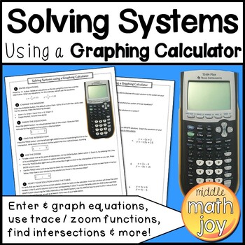 Solve Systems with a Graphing Calculator