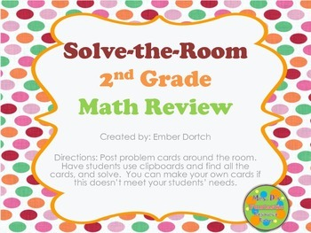 Solve-The-Room 2nd Grade Math Review