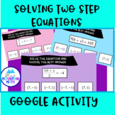 Solve Two Step Equations Activity--Google Slide Activity
