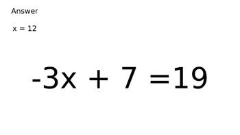 Solve Two Step Equations Scavenger Hunt