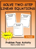 Solve Two-Step Linear Equations Problem Pass Activity