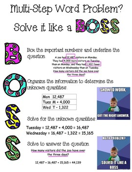 Solve Word Problems #LikeaBoss