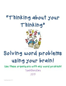 Solve Word Problems by thinking about your Strategy! Use y