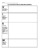 Solve Math Word Problems with VIEW Graphic Organizer!