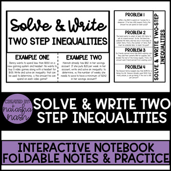 Solve & Write Two Step Inequalities