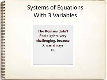 Solve a Linear System with 3 Variables
