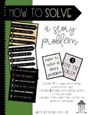 """Investigations aligned """"Solve a Story Problem"""" Posters"""