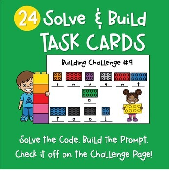Solve and Build Task Cards
