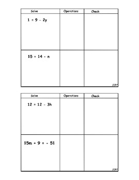 Solve and Check Two-Step Equations