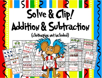 Solve and Clip- Addition and Subtraction