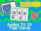 Solve and Color Adding to 20 Task Cards