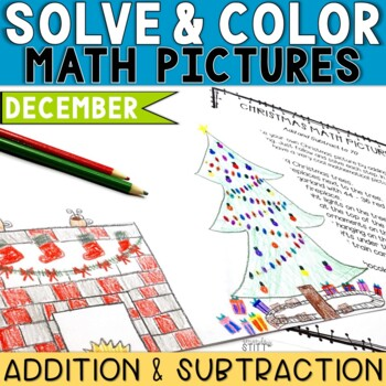 Solve and Color Addition and Subtraction | December Math