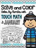 Solve and Color: Color by Number with Touch Math for January