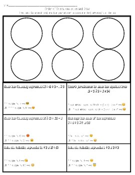 Solve and Draw (Emoji Style) -Order of Operations