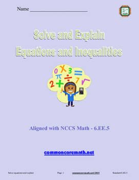 Solve and Explain Equations and Inequalities - 6.EE.5
