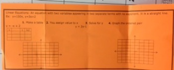 Solve and Graph Linear Equations Foldable (Basic)