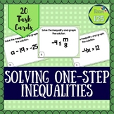 Solve and Graph One-Step Inequality Task Cards