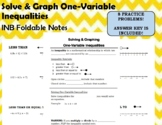 Solve and Graph One-Variable Inequalities - INB Foldable Notes (2-7)
