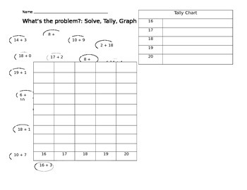Solve and Graph Problems 16 -20