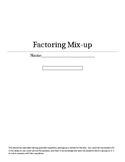 Solve and Graph Quadratic Equations Mix-Up
