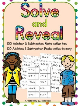 Solve and Reveal Addition & Subtraction within 20