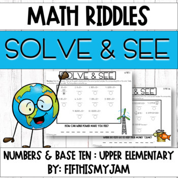 Solve and See Earth Day 5.NBT.2