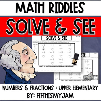 Solve and See Worksheets America 5.NF.3