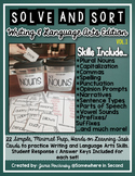 Solve and Sort ELA: 22 Writing and Language Skills for Student Analysis