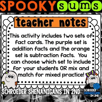Halloween Addition and Subtraction