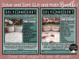 Solve and Sort-ELA and Math BUNDLE!