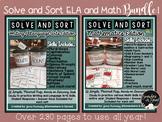 Solve and Sort-ELA and Math BUNDLE!