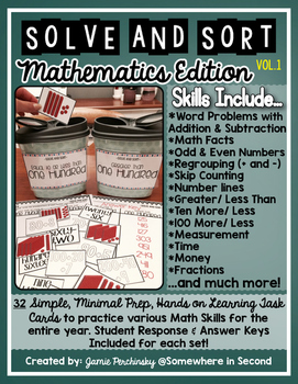 Solve-and-Sort Math Edition: 32 Math Skills for Student Analysis