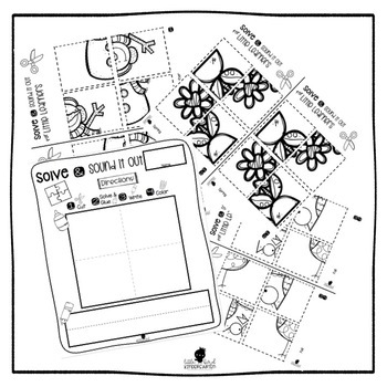 Solve and Sound It Out Puzzles for Little Learners for All Year Long