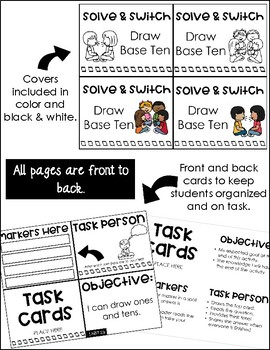 Solve and Switch Math Task Cards | Math Centers | Draw Tens and Ones