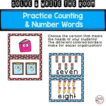 Solve and Write the Room- Counting and Number Words to 10