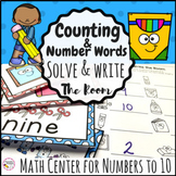 Counting and Number Words to 10 Write the Room Math