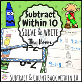 Subtraction Within 10 Write the Room Math