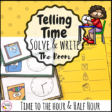 Telling Time to the Hour and Half Hour Write the Room Math