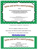 Solve and write a word problem