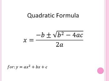 Solve by Using the Quadratic Formula