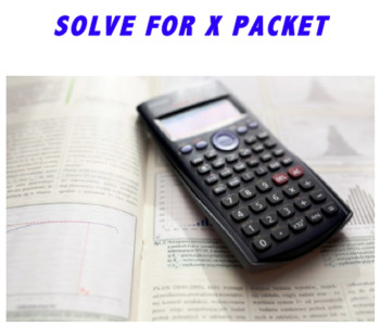 Solve for X packet