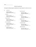 Solve for Y (slope intercept form)