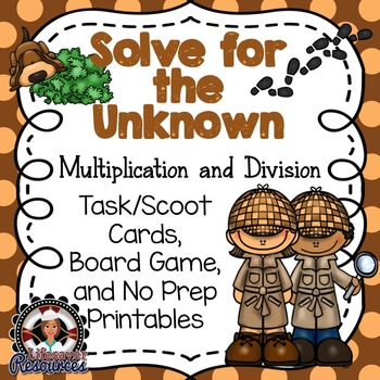 Solve for an Unknown Game and Printables - Multiplication