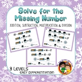 Solve for the Missing Number - 4 Operations