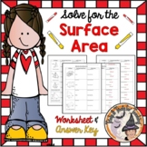 Surface Area Worksheet 3D shapes Nets Geometry 3-D Lateral